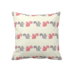 Cute Squirrel Throw Pillow