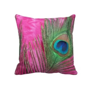 Colorful Peacock Pillow