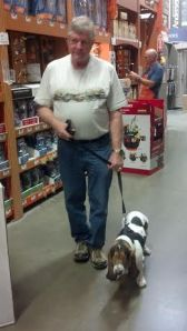 Bella and her dad at Home Depot!